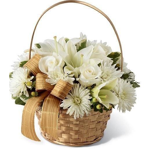 Basket of Blooms Whites