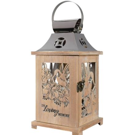 In Loving Memory Wooden Lantern