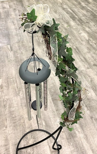 Wind Chimes with ivy