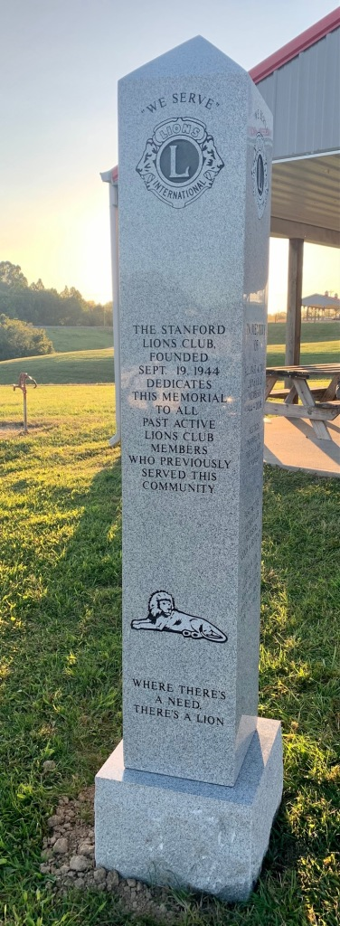 The Stanford Lions Club Memorial Obelisk