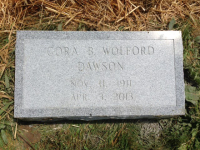 The Monument of Cora B. Wolford Dawson