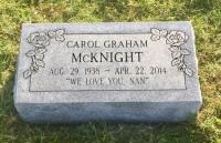 The Monument of Carol Graham McKnight