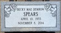The Monument of Becky Mae Demrow Spears