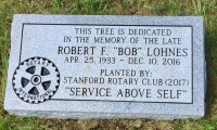 Dedication Marker for Robert F. Lohnes (Stanford Rotary)