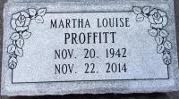 The Monument of Martha Louise Proffitt