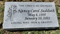 The Monument of Nancy Carol Sudduth