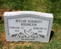 The Monument of Beulah (Gourley) Hoisington