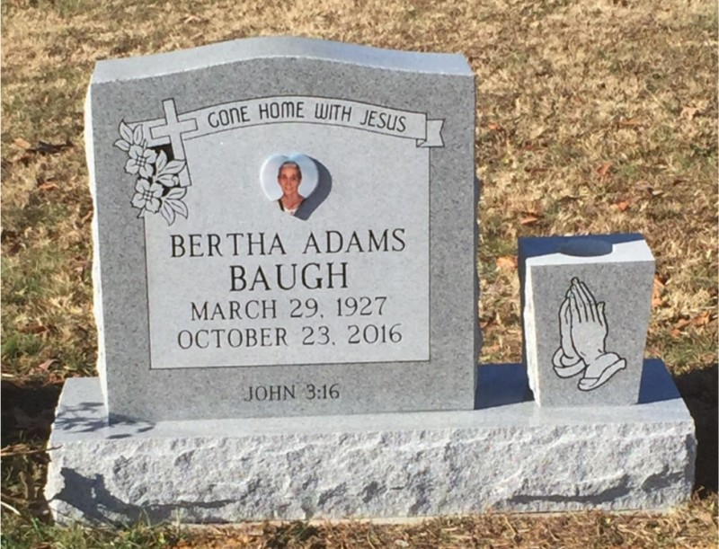 The Monument of Bertha Adams Baugh