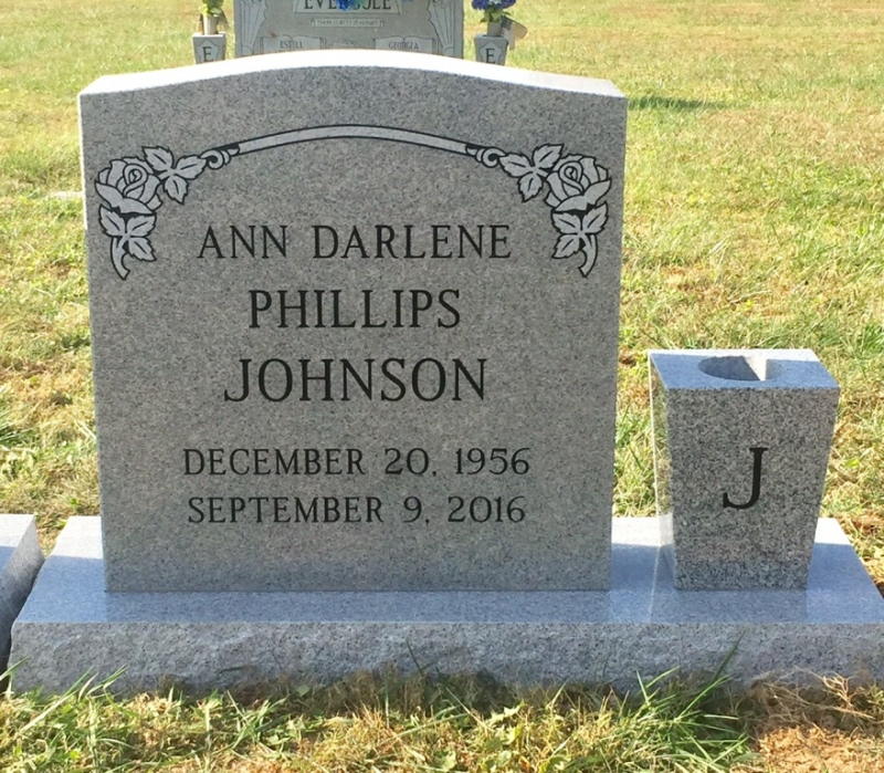 The Monument of Ann Darlene Phillips Johnson