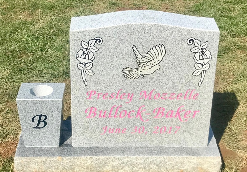 The Monument of Presley Mozzelle Bullock-Baker
