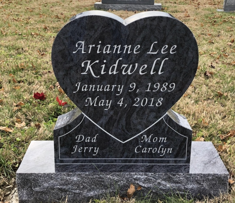 The Monument of Arianne Lee Kidwell