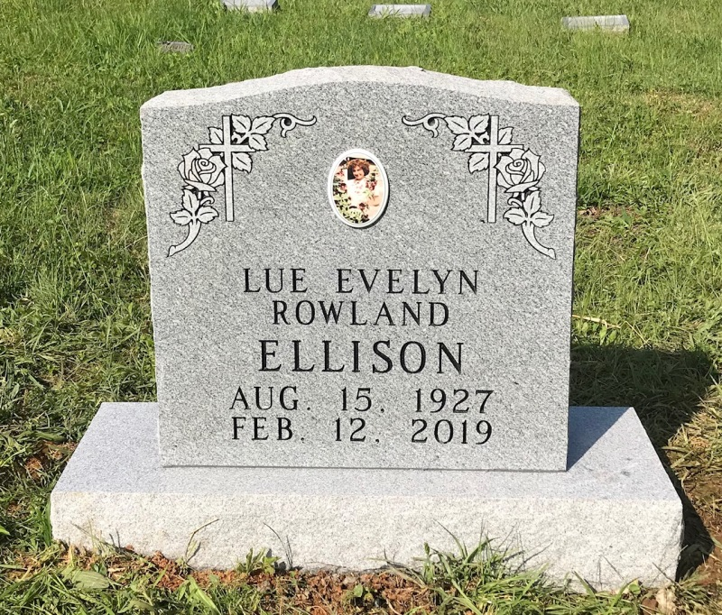 The Monument of Lue Evelyn Rowland Ellison