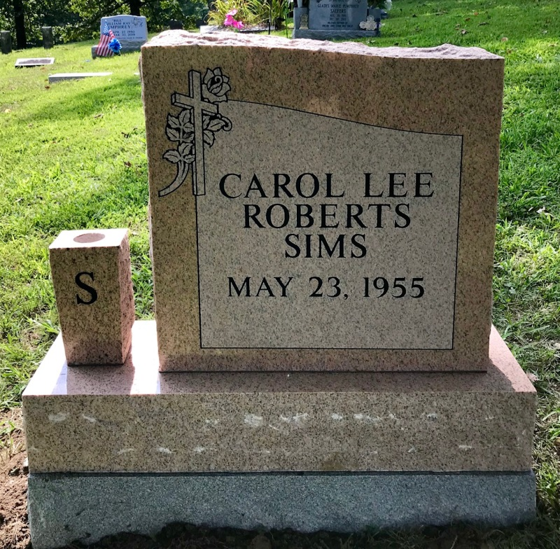 The Monument of Carol Lee Roberts Sims