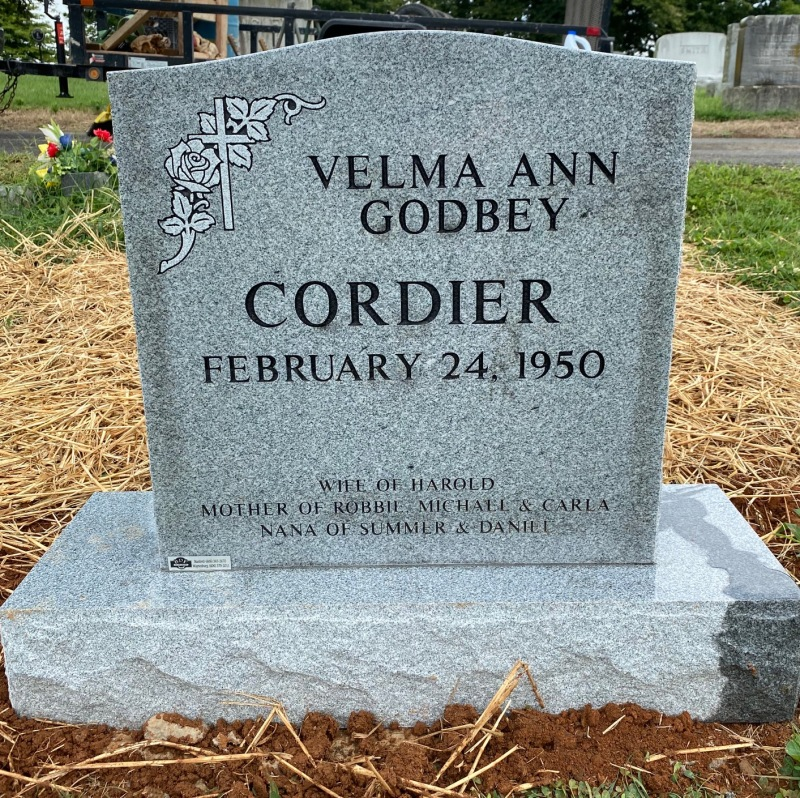 The Monument of Harold Eugene and Velma Ann Godbey Cordier