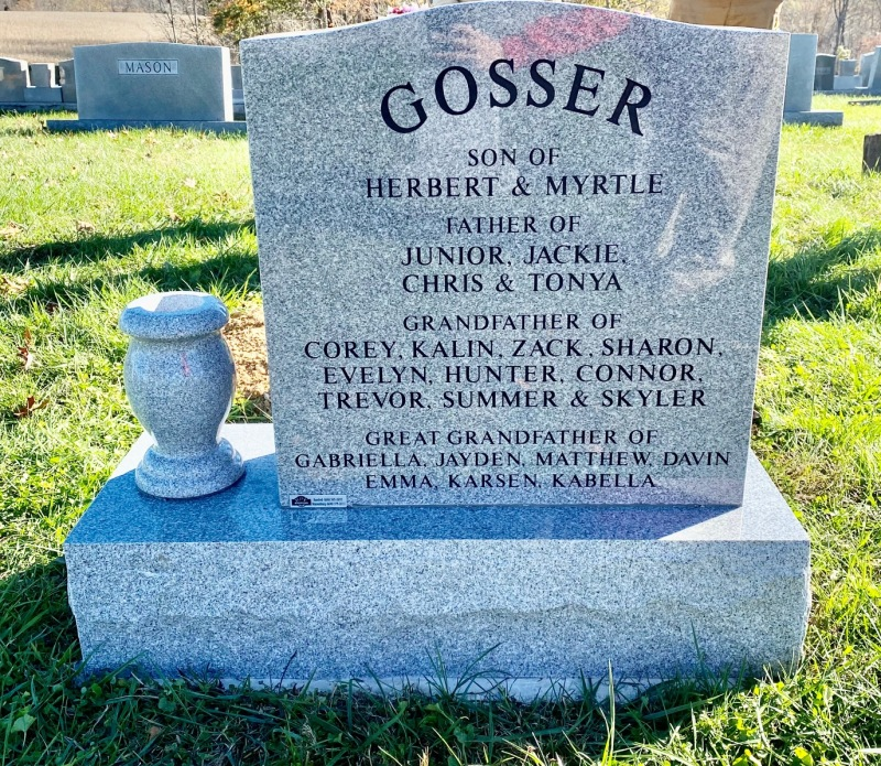 The Monument of Hurld Eugene (Gene) Gosser