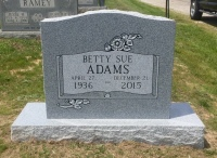 The Monument of Betty Sue Adams
