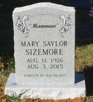 The Monument of Mary Saylor Sizemore