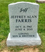 The Monument of Jeffrey Alan (Jeff) Farris