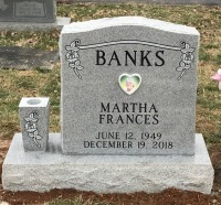 The Monument of Martha Frances Banks
