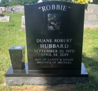 The Monument of Duane Robert (Robbie) Hubbard