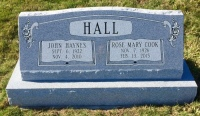 The Monument of John Haynes & Rose Mary Cook Hall