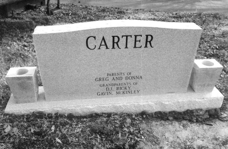 The Monument of Phillip Junior & Betty Sue Carter