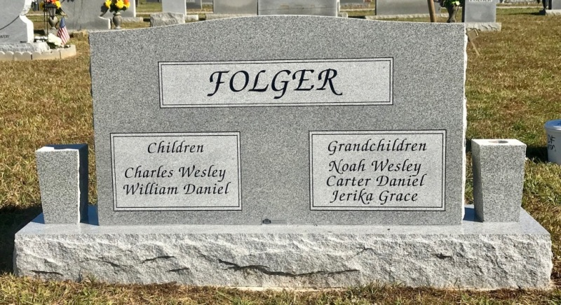 The Monument of Charles L. & Ruth M. Gerkey Folger