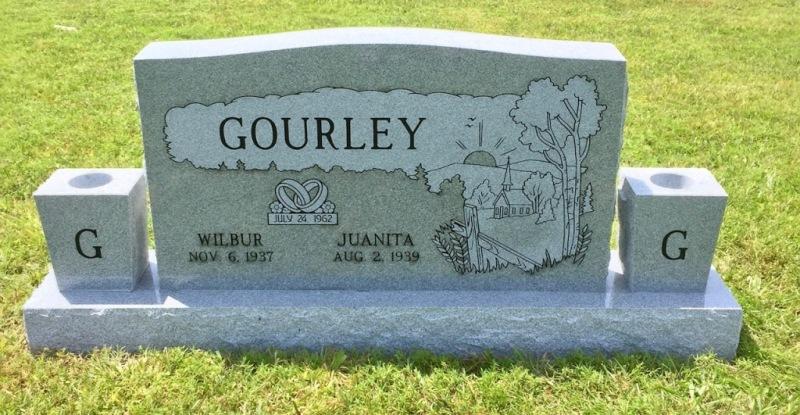 The Monument of Wilbur & Juanita Gourley