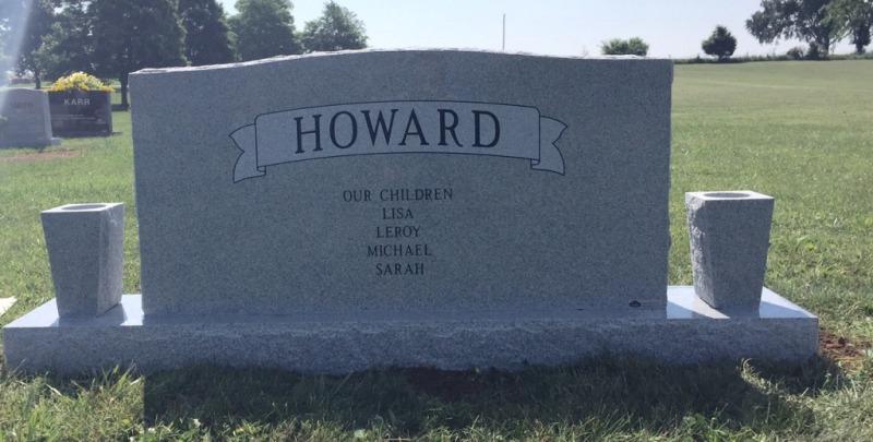 The Monument of Matt & Eva Lee Cochran Howard