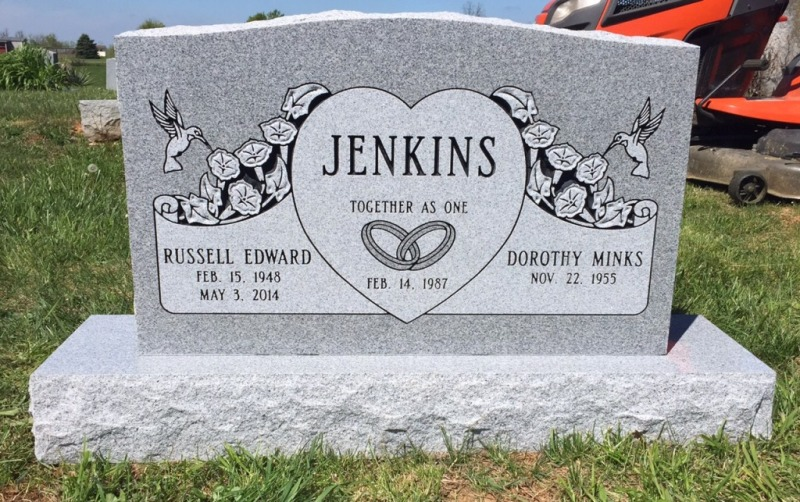 The Monument of Russell Edward & Dorothy Minks Jenkins