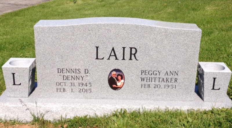 The Monument of Dennis D. (Denny) & Peggy Ann Whittaker Lair