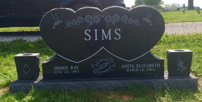 The Monument of Jimmie Ray & Anita Elizabeth Sims