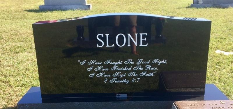 Monument of Thomas (Tom) Harlan Slone, Jr. & Flora Justine