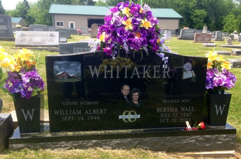 The Monument of William Albert & Bertha Wall Whitaker