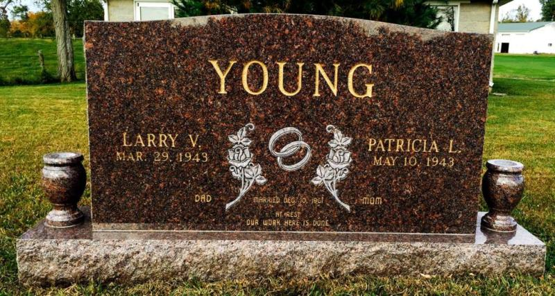 The Monument of Larry V. & Patricia L. Young