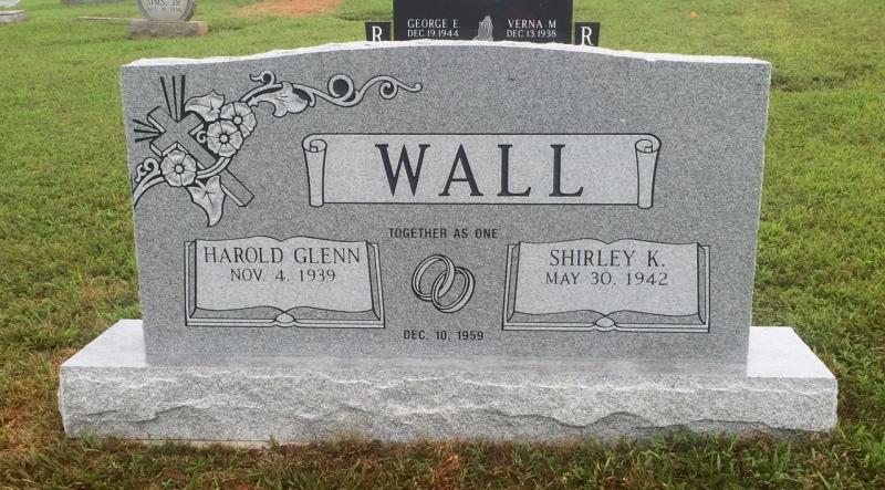 The Monument of Harold Glenn & Shirley K. Wall