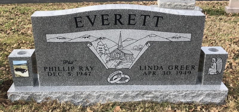 The Monument of Phillip Ray and Linda Greer Everett