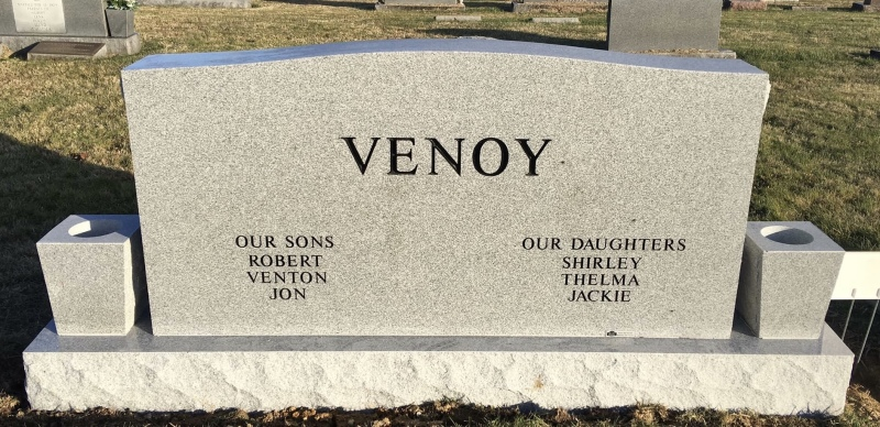 The Monument of Clarence F. and Iva M. Venoy