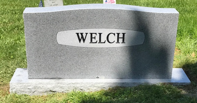 The Monument of James Phillips & Vyvyan Marie Garr Welch