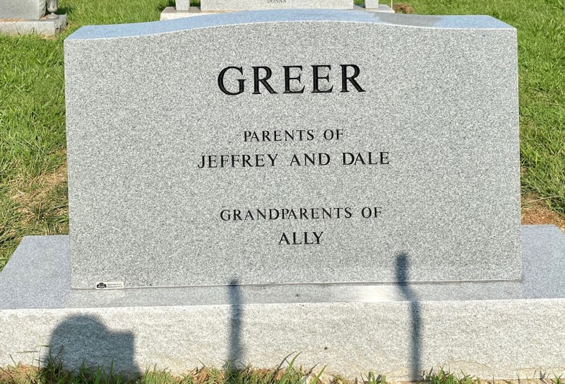 The Monument of Wayne and Joan Greer