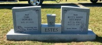 The Monument of Carl Howard & Betty Marie Osterman Estes