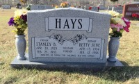 The Monument of Stanley B. & Betty June Hays