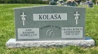 Monument of John Raymond & Virginia Bonieta GehlhausenKolasa