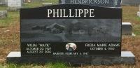 The Monument of Wilba Mack & Freda Marie Adams Phillippe