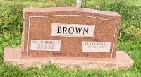 The Monument of Hollis Bradley & Clara Wolfe Brown