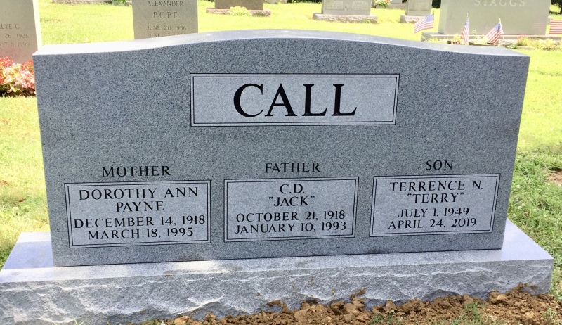 The Monument of Dorothy Call, Jack Call, and Terry Call