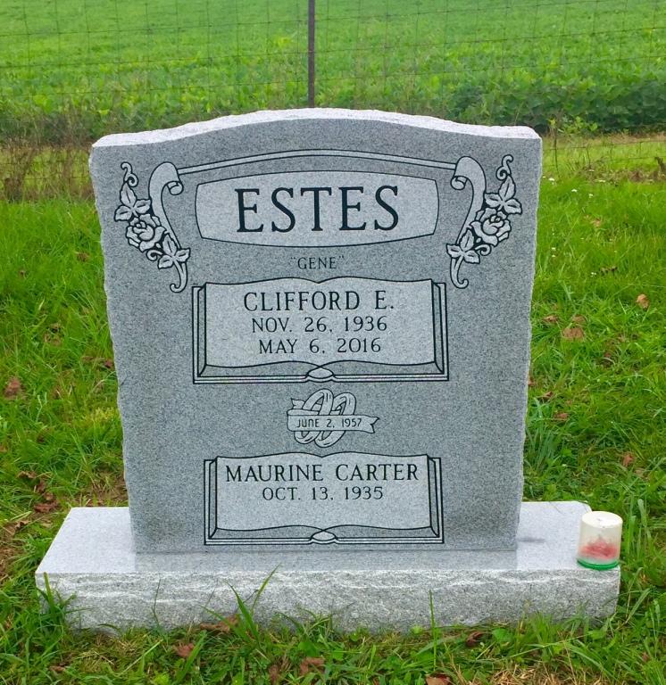 The Monument of Clifford E. (Gene) & Maurine Carter Estes