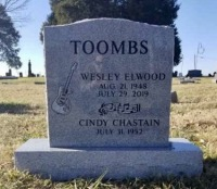 The Monument of Wesley Elwood and Cindy Chastain Toombs