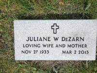 The Monument of Juliane W. DeZarn