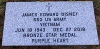 The VA Foot Marker for James Edward Jim Disney